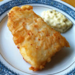 Alaskan beer battered halibut