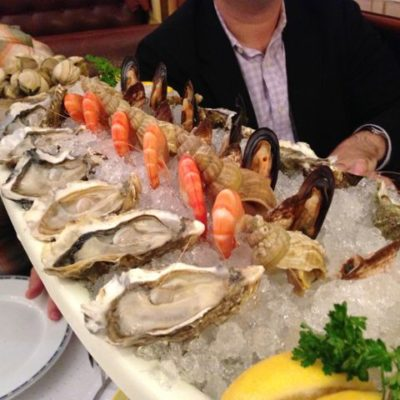 Seafood extravaganza in Lyon, France