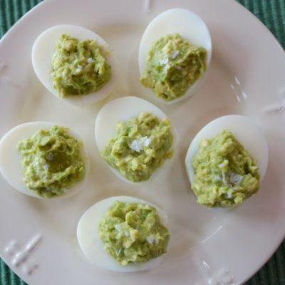 "Avocado ""deviled"" eggs"
