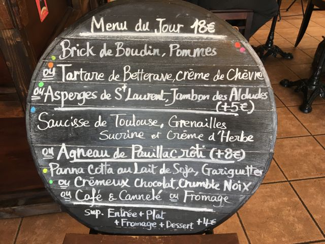 Lunch at Le Bontemps, Medoc